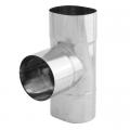 Trójnik 90° żaroodporny owalny SPIROFLEX 120x215mm gr.0,8mm