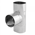 Trójnik 90° żaroodporny owalny SPIROFLEX 120x215mm gr.1,0mm
