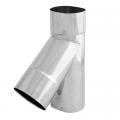 Trójnik 45° żaroodporny owalny SPIROFLEX 130x240mm gr.1,0mm