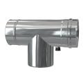 Trójnik rewizyjny 90° z odskraplaczem dwuścienny MKPS Invest MK ŻARY  Ø 80/125mm