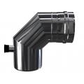 Kolano 90° z odskraplaczem i króćcem pomiarowym dwuścienne MKPS Invest MK ŻARY  Ø 80/125mm