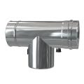 Trójnik rewizyjny 90° z odskraplaczem i króćcem pomiarowym dwuścienny MKPS Invest MK ŻARY  Ø 80/125mm