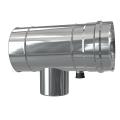 Trójnik rewizyjno-redukcyjny 90° z odskraplaczem dwuścienny MKPS Invest MK ŻARY  Ø 60/100 - 80/125mm