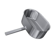 Odskraplacz żaroodporny owalny MKSZ Invest MK ŻARY 110x230mm gr.0,8mm strona szersza