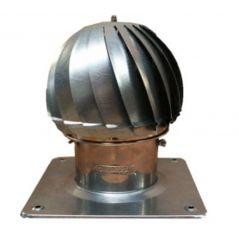 Nasada Turbomax 1 SREBRNY Ø 120mm z podstawą kwadratową ocynk
