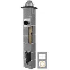 System Kominowy Ceramiczny  JAWAR K Ø  80mm z wentylacją