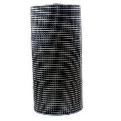 Siatka pvc kwadra 16 light czarna 1.2 m*50mb oczko 12mm