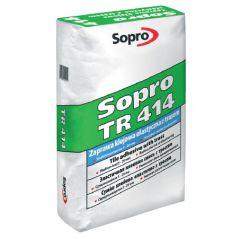 SOPRO zaprawa klejowa średniowarstwowa, elastyczna z trasem TR 414, 25 kg