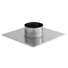 Płyta dachowa wywiewki 2 nierdzewna SPIROFLEX Ø 130mm