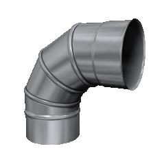 Kolano 90° skrętne żaroodporne MKSZ Invest MK ŻARY Ø 120mm gr.0,8mm