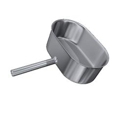Odskraplacz żaroodporny owalny MKSZ Invest MK ŻARY 110x240mm gr.0,8mm strona szersza