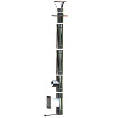 Wkład kominowy żaroodporny owalny MKSZ Invest Owal MK ŻARY 110x230mm gr.0,8mm