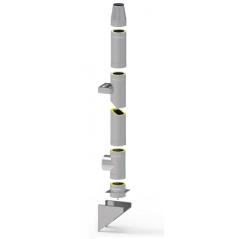 System kominowy stalowy izolowany SLIM Ø 120mm gr.0,8mm