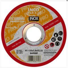 TARCZA PŁASKA INOX T1A 125*1.5*22