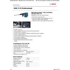 MŁOT UDAROWY KUJĄCY SDS-MAX GSH 11 E 1500W/25J