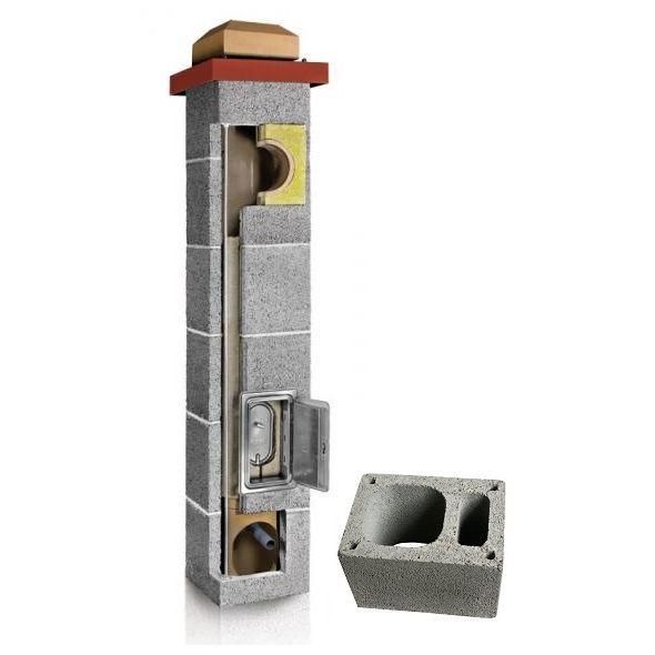 System Kominowy Ceramiczny PLEWA Uni Fu 180x180mm z wentylacją