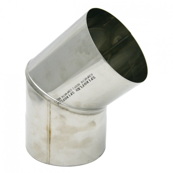 Kolano stałe 45° żaroodporne SPIROFLEX Ø 120mm gr.1,0mm