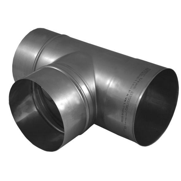 Trójnik 90° KOMINUS KZS Ø 120mm gr.0,8mm
