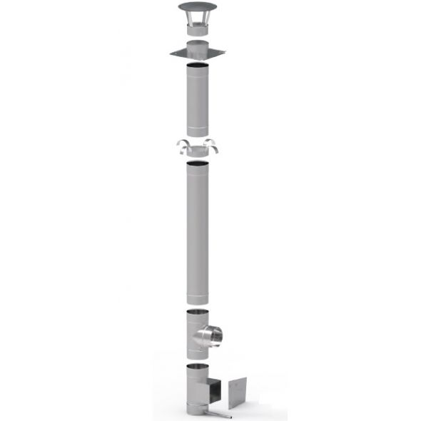 Wkład kominowy żaroodporny KOMINUS KZS Ø 180mm gr.0,8mm