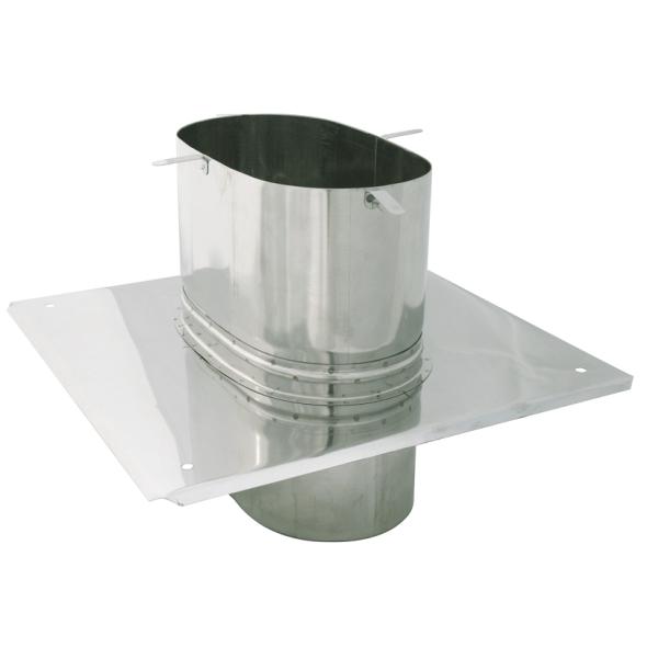 Płyta dachowa żaroodporna owalna SPIROFLEX 115x170mm gr.0,8mm