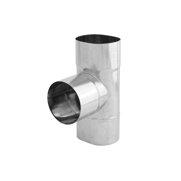 Trójnik 90° żaroodporny owalny SPIROFLEX 130x240mm gr.1,0mm