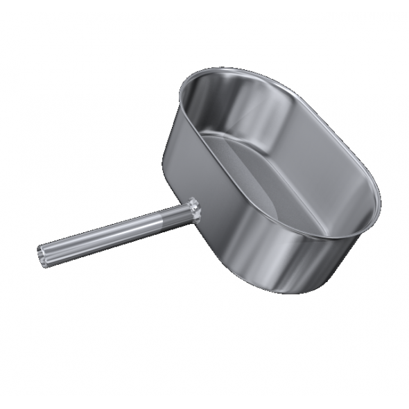 Odskraplacz żaroodporny owalny MKSZ Invest MK ŻARY 120x230mm gr.0,8mm strona szersza