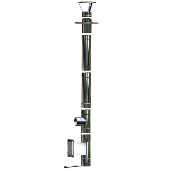 Wkład kominowy żaroodporny owalny MKSZ Invest Owal MK ŻARY 110x200mm gr.0,8mm