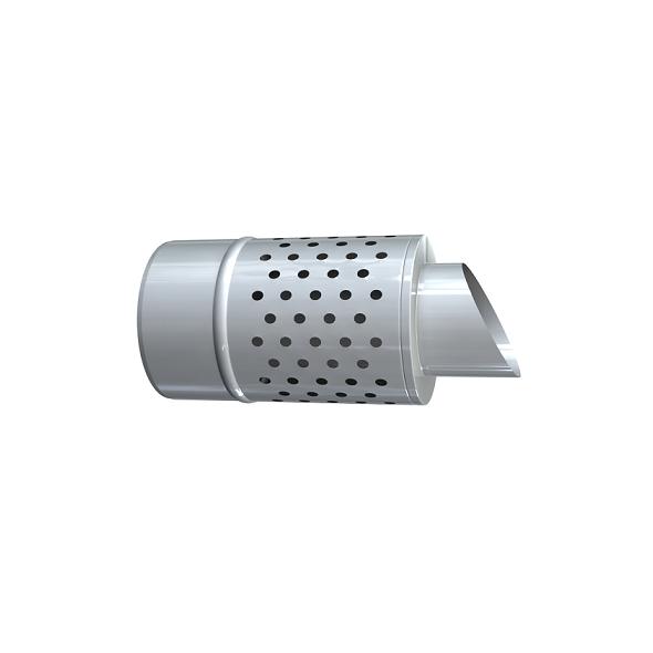 Czerpnia pozioma dwuścienna MKPS Invest MK ŻARY  Ø 80/125mm biała