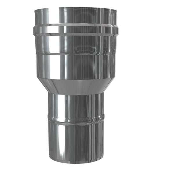 Redukcja dwuścienna MKPS Invest MK ŻARY  Ø 60/100 na 80/125mm