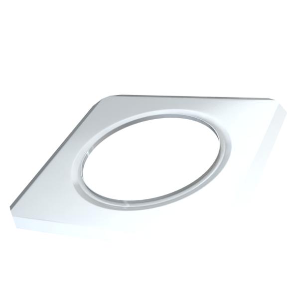Rozeta ścienna kwadratowa MKPS Invest MK ŻARY Ø 100mm biała