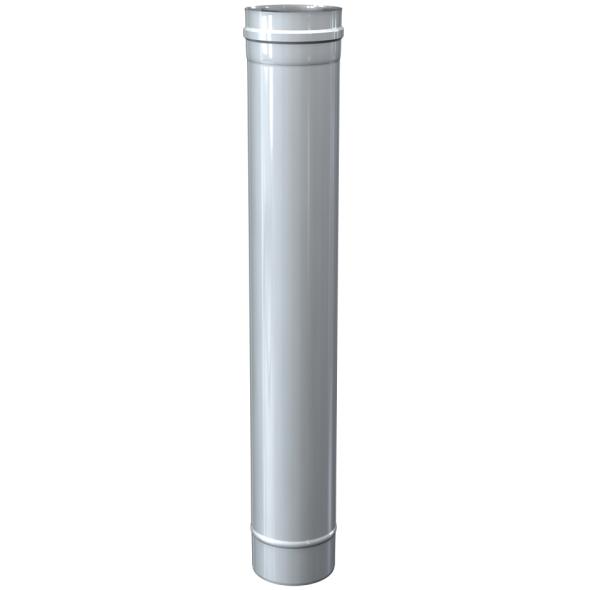 Rura prosta dwuścienna MKPS Invest MK ŻARY  Ø 60/100mm 1mb biała
